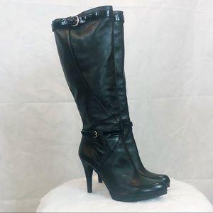 Nine West Leather Platform Stiletto Boots